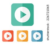 play button web icon   flat... | Shutterstock .eps vector #226721065