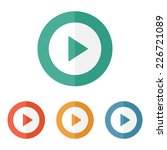 play button web icon   flat... | Shutterstock .eps vector #226721089