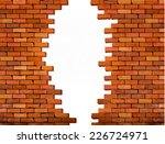 vintage brick wall background... | Shutterstock .eps vector #226724971