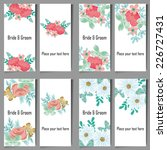 set of invitations with floral... | Shutterstock .eps vector #226727431