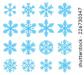 various winter snowflakes... | Shutterstock .eps vector #226730347