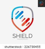 minimal line design logo ... | Shutterstock .eps vector #226730455