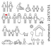 set of family icons and sign... | Shutterstock .eps vector #226737151
