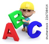 3d render of a builder with the ...