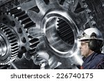 mechanic  engineer with large... | Shutterstock . vector #226740175