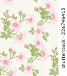 seamless floral pattern  | Shutterstock .eps vector #226746415