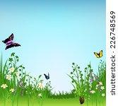 flowering meadow and... | Shutterstock . vector #226748569