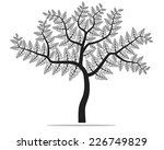 black tree silhouette isolated... | Shutterstock .eps vector #226749829