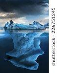 big iceberg underwater with a... | Shutterstock . vector #226751245