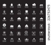 'house for sale' icons set  ...