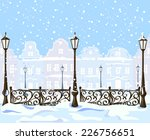 Vintage Winter City With...