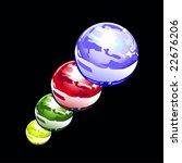 water spheres | Shutterstock .eps vector #22676206