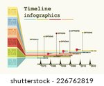 timeline infographic with... | Shutterstock .eps vector #226762819