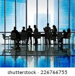 silhouette group of business... | Shutterstock . vector #226766755