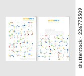 flyer template back and front... | Shutterstock .eps vector #226775509
