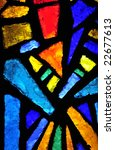 stained glass at the church of... | Shutterstock . vector #22677613