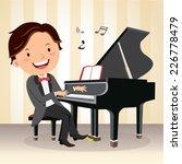 piano concert. young pianist... | Shutterstock .eps vector #226778479