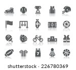 sport competition icons | Shutterstock .eps vector #226780369