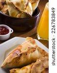 esfiha delicious baked stuffed  | Shutterstock . vector #226783849