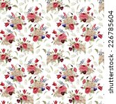 seamless floral pattern with... | Shutterstock . vector #226785604