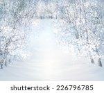 vector winter snow landscape. | Shutterstock .eps vector #226796785