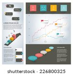page template. infographics set ...