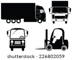 set of transport  loading and... | Shutterstock .eps vector #226802059
