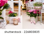 wedding flowers in the basket | Shutterstock . vector #226803835
