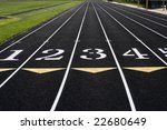 running lanes on a track and... | Shutterstock . vector #22680649