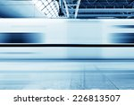 fast train with motion blur. | Shutterstock . vector #226813507