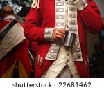 Reenactment Soldier Holding Mug