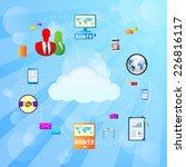 cloud internet connection... | Shutterstock .eps vector #226816117