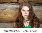 portrait of the beautiful red... | Shutterstock . vector #226817281