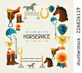 frame with horse equipment in... | Shutterstock .eps vector #226826119