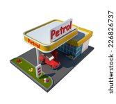 illustration of the gas station. | Shutterstock . vector #226826737