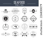 perfect set of seafood logos.... | Shutterstock .eps vector #226830079