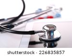 stethoscope  pills  pc tablet... | Shutterstock . vector #226835857