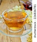 meadowsweet tea from a glass... | Shutterstock . vector #226836781