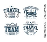 retro labels travel set graphics | Shutterstock .eps vector #226839685