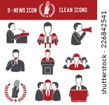 9 news icons on white... | Shutterstock .eps vector #226842541