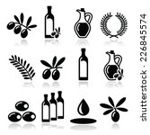 Olive Oil  Olive Branch Icons...
