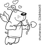 a happy cartoon cupid dog with... | Shutterstock .eps vector #226846645