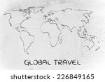 illustration with world map ... | Shutterstock . vector #226849165