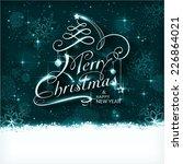 dark blue christmas background... | Shutterstock . vector #226864021