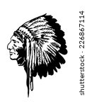 indian chief vector... | Shutterstock .eps vector #226867114