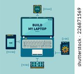 icons of the laptop and its... | Shutterstock .eps vector #226871569