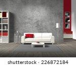 modern living room 3d rendering ... | Shutterstock . vector #226872184
