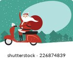 christmas card with copy space | Shutterstock .eps vector #226874839