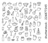set of 60 icons of different... | Shutterstock .eps vector #226877245