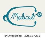 stethoscope graphic design  ... | Shutterstock .eps vector #226887211